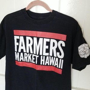 Farmers Market Hawaii FMHI Mens Logo Spell OutTee